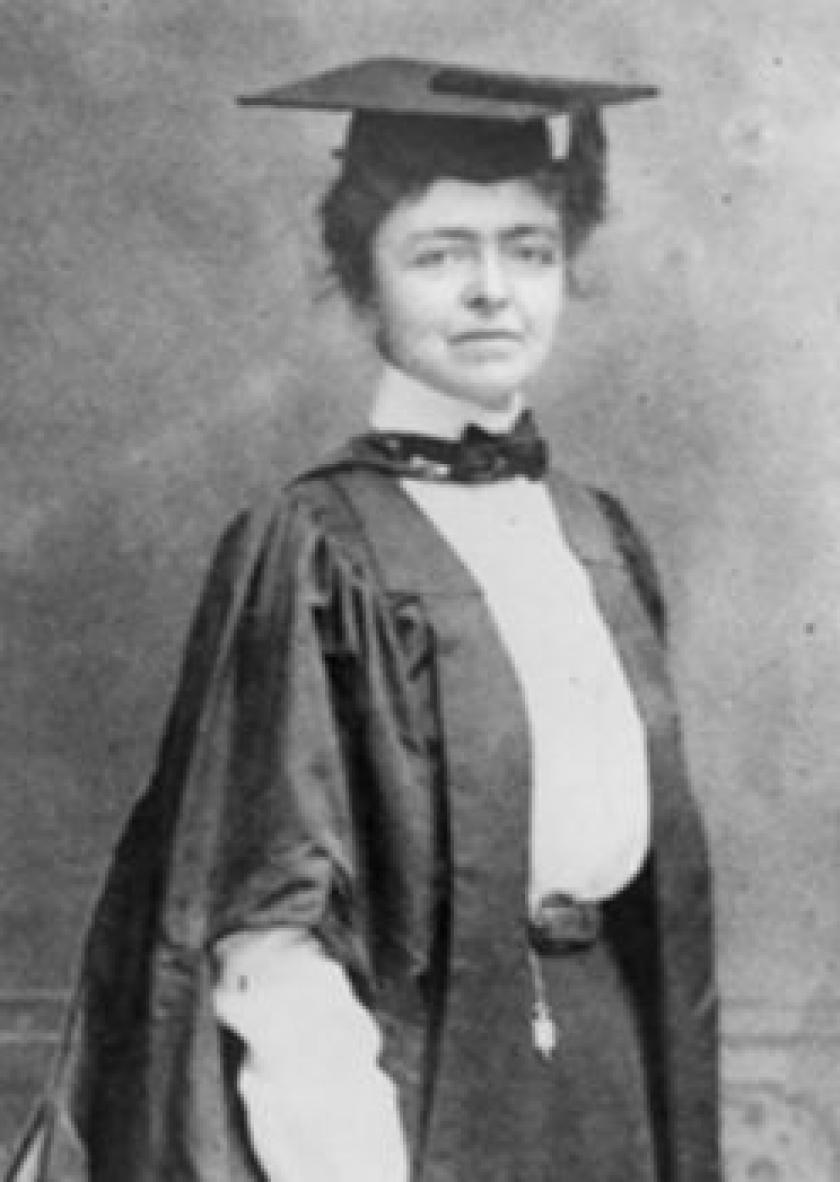Katharine Sharp, director of the first library science program