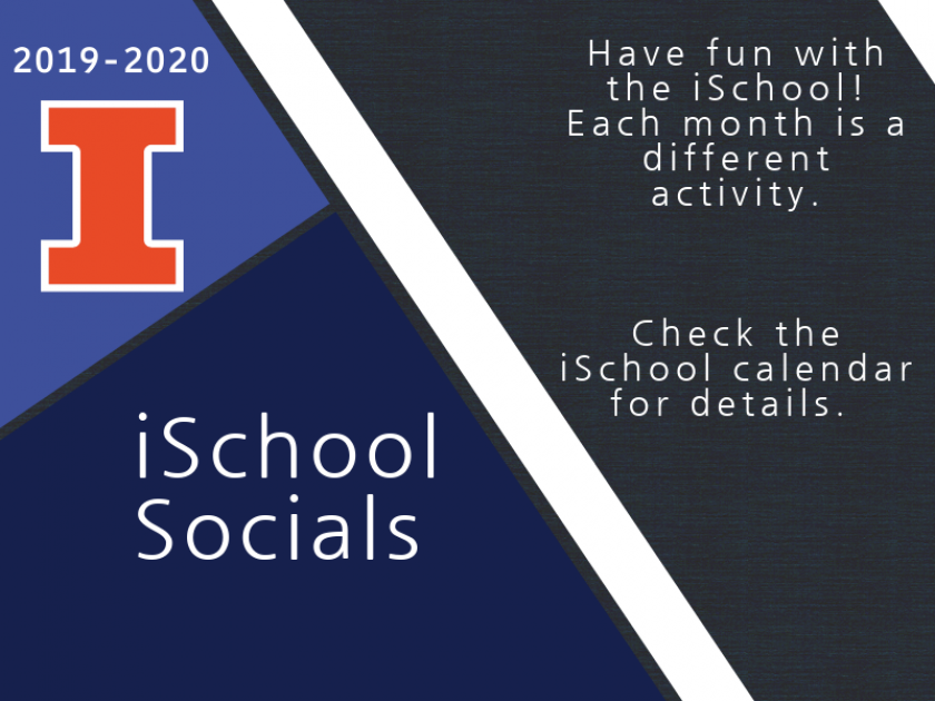 "Graphic displaying block I logo and the text ""iSchool Socials"""