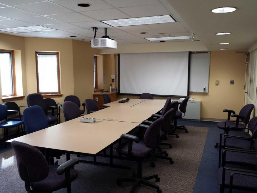 Photo of Room 242 in the School of Information Sciences