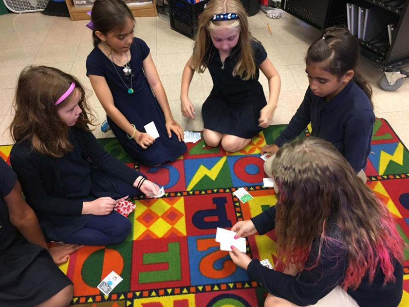 Stratton students play a game designed by a classmate