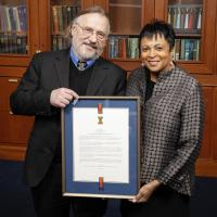 Dean Allen Renear with Librarian of Congress Carla Hayden